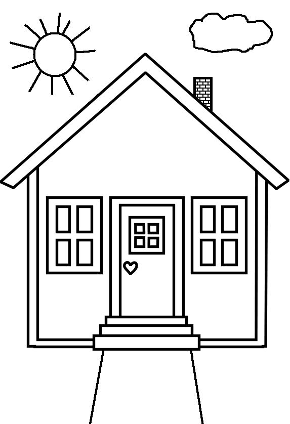house for coloring free printable house coloring pages for kids for house coloring
