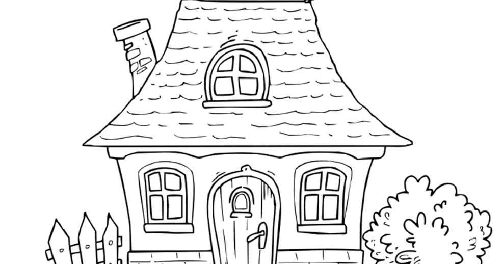 house for coloring house coloring page for children stock illustration house for coloring