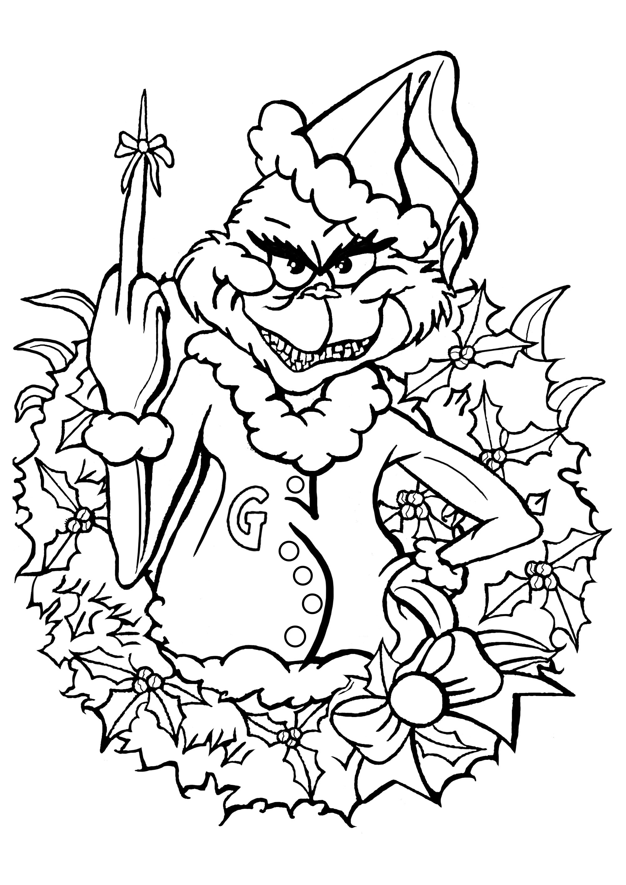 how the grinch stole christmas coloring pages the grinch in christmas sleigh coloring pages hellokidscom grinch stole the coloring christmas how pages