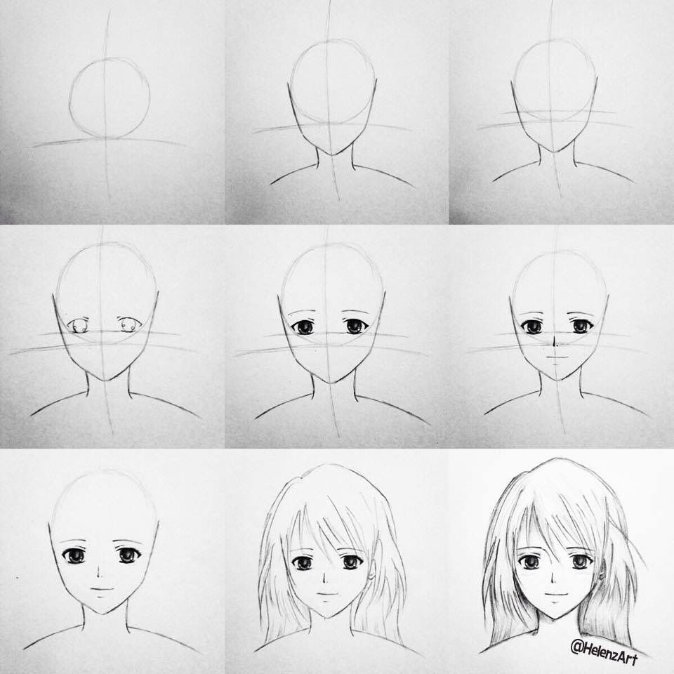 how to draw a anime girl anime girl drawing at getdrawings free download how a draw girl anime to