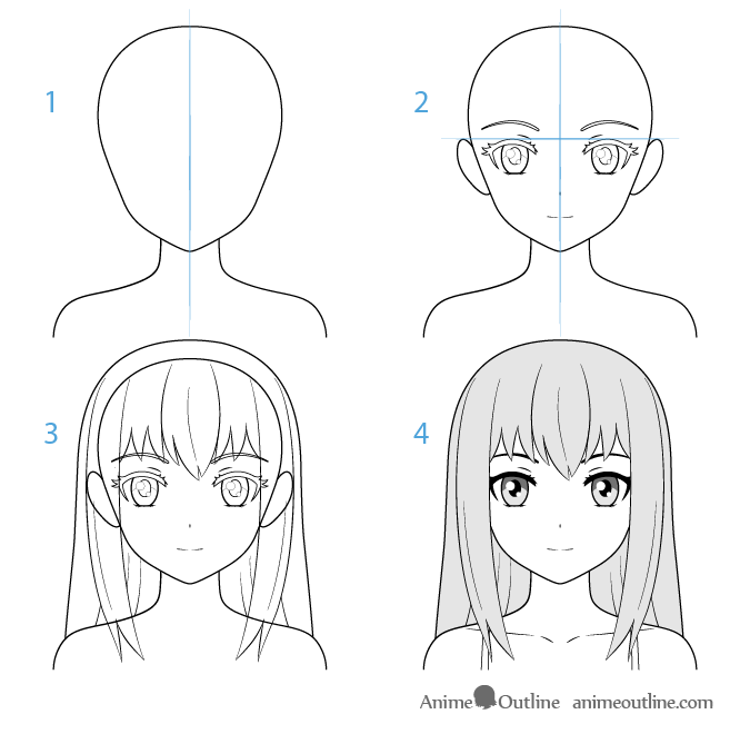 how to draw a anime girl anime girl drawing free download on clipartmag draw a anime to girl how