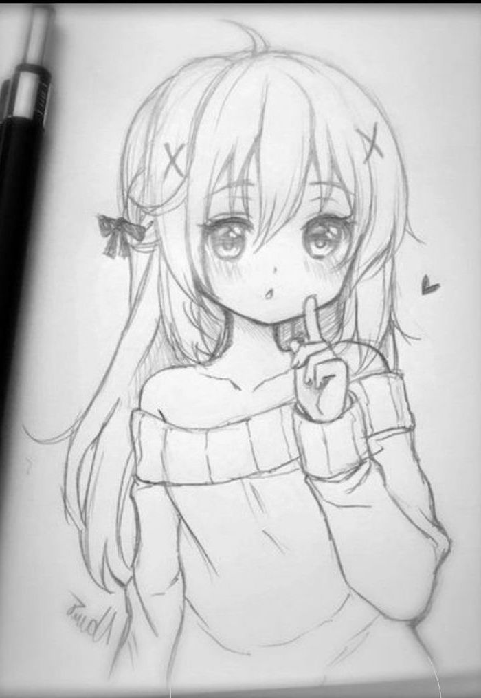 how to draw a anime girl girl hair sketch at paintingvalleycom explore draw anime a to girl how