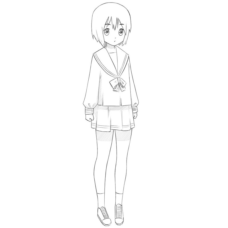 how to draw a anime girl how to draw an anime school girl step by step anime anime girl draw how to a