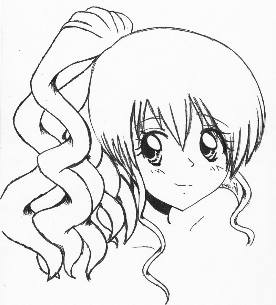 how to draw a anime girl kagome drawing at getdrawings free download anime girl draw how to a