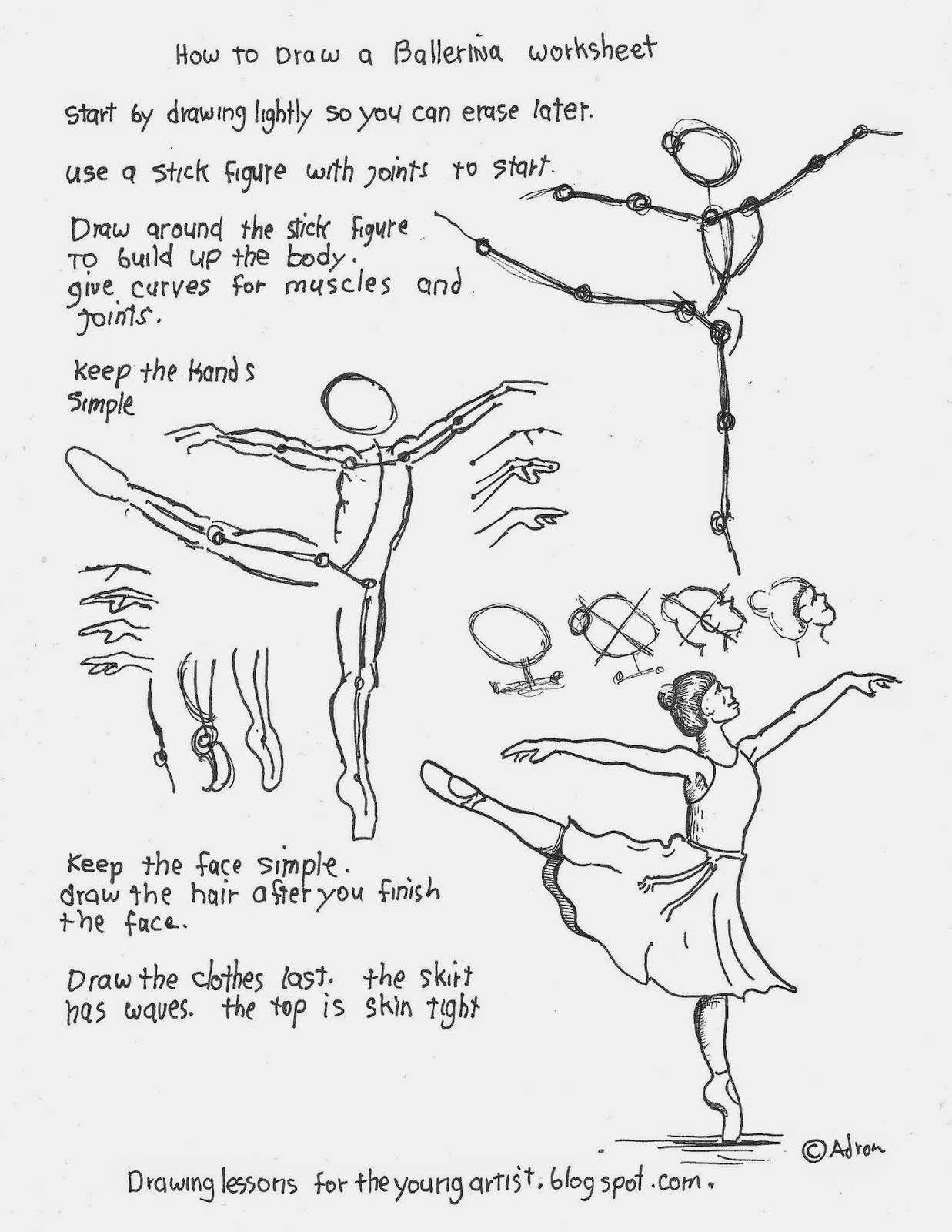 how to draw a balerina coloring activity pages 062411 to draw how a balerina