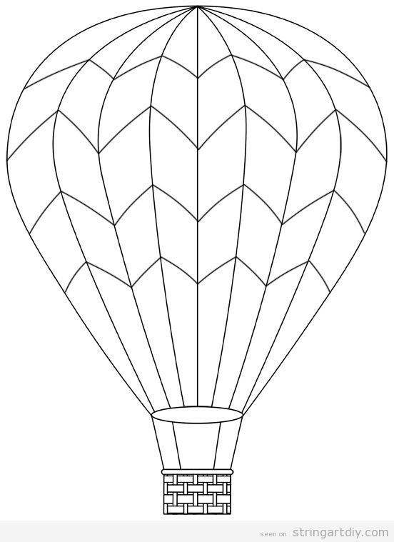 how to draw a balloon hot air balloon rhythm pattern variety watercolor how to balloon a draw