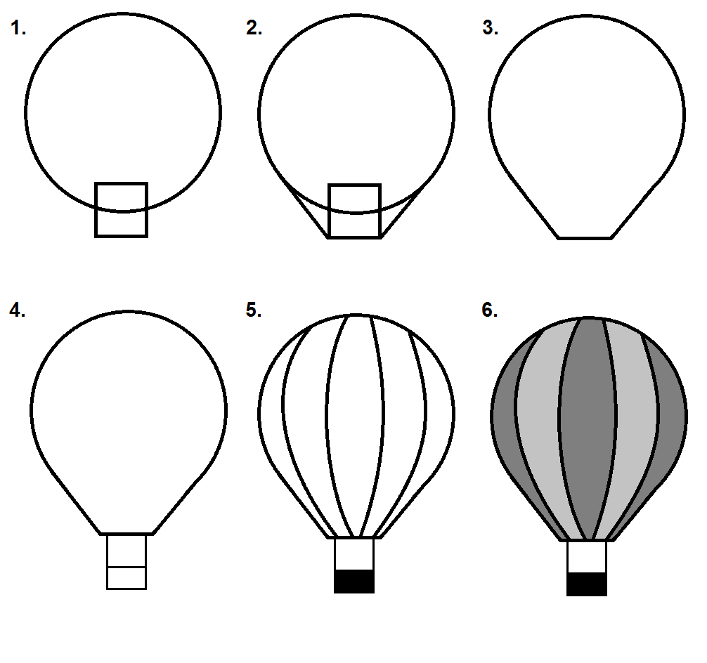 how to draw a balloon hot air balloon step by step tutorial hot air balloons draw how a to balloon
