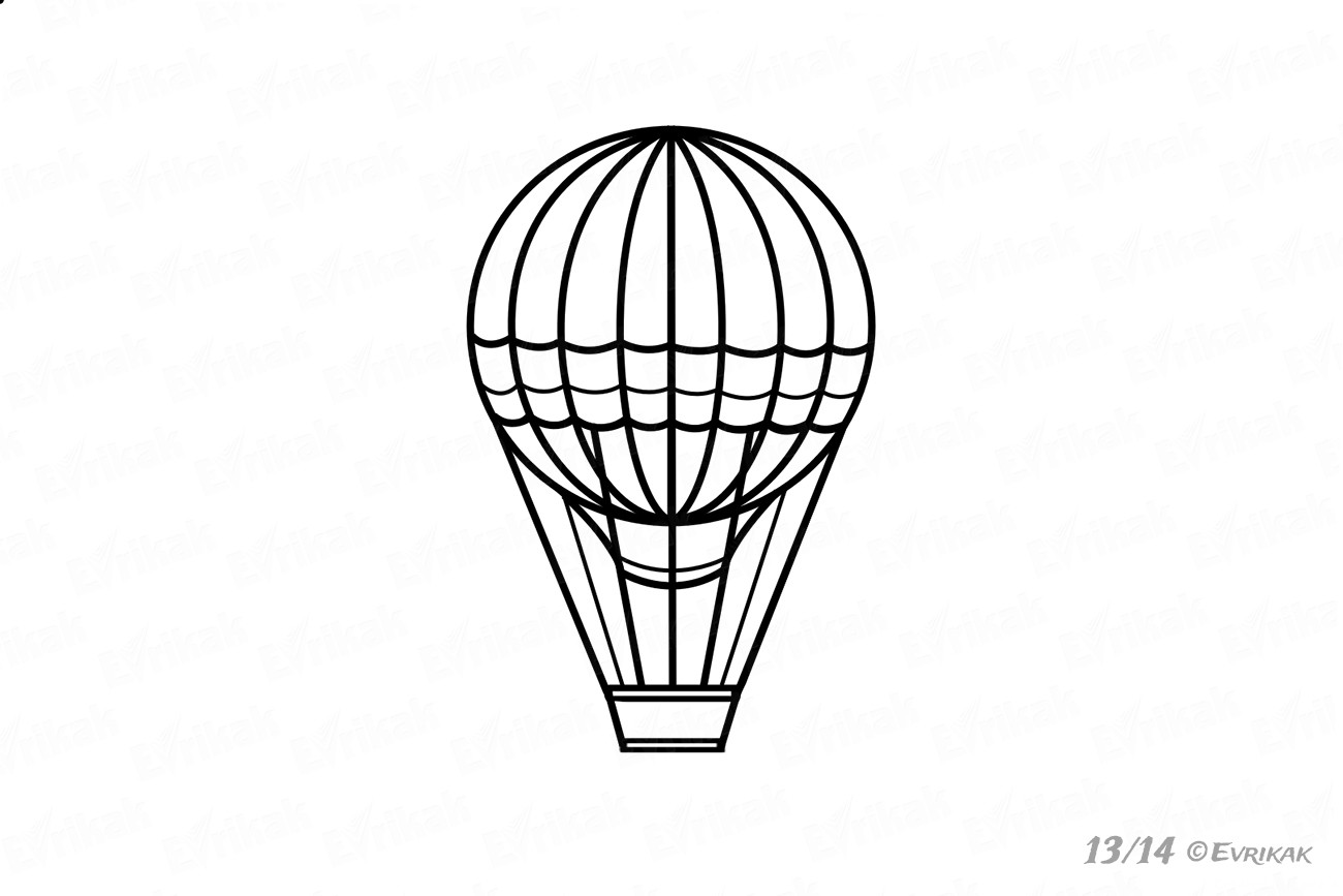 how to draw a balloon how to draw a funny balloon with a basket step by step how a balloon draw to