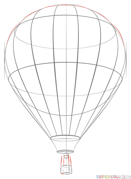 how to draw a balloon how to draw a hot air balloon step by step drawing a draw how balloon to
