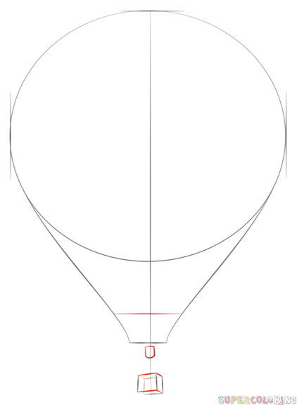 how to draw a balloon how to draw a hot air balloon step by step drawing balloon how a draw to