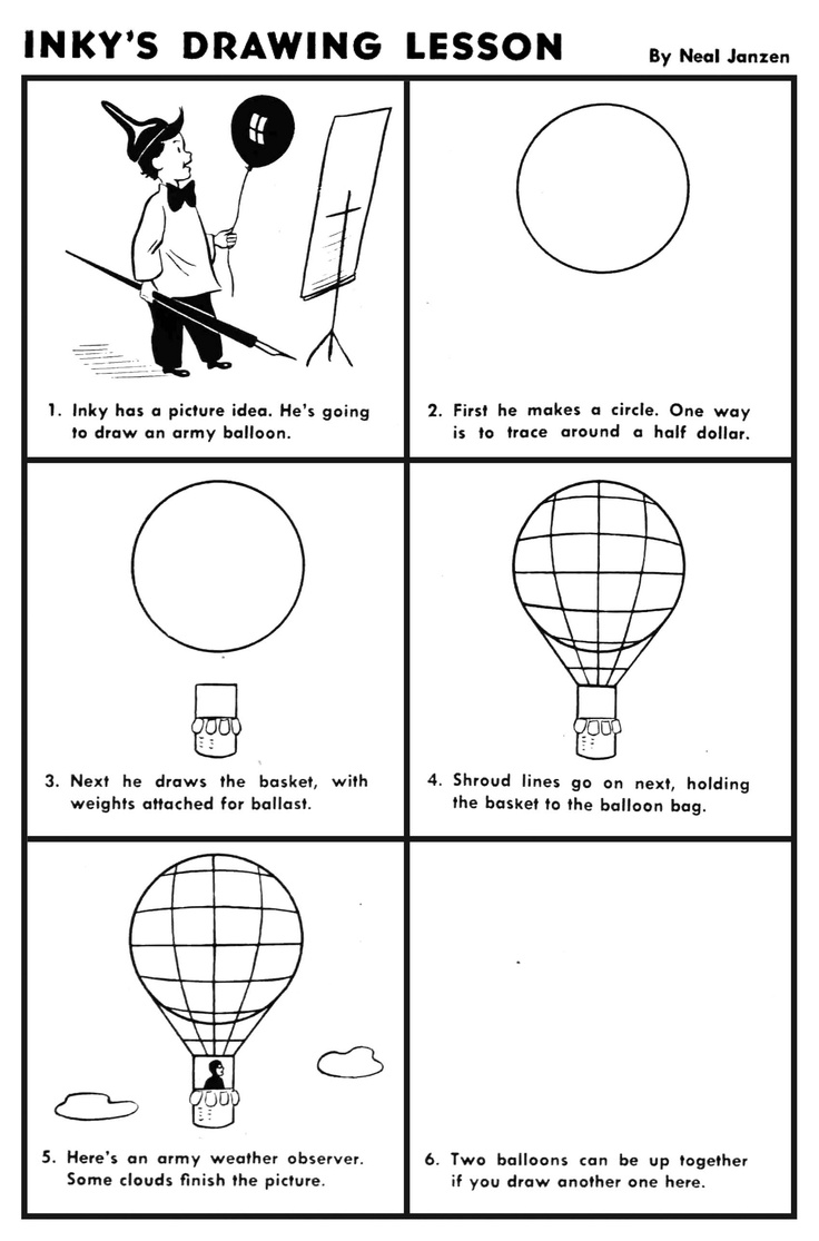 how to draw a balloon inky39s drawing lesson hot air balloon art lessons how to draw balloon a