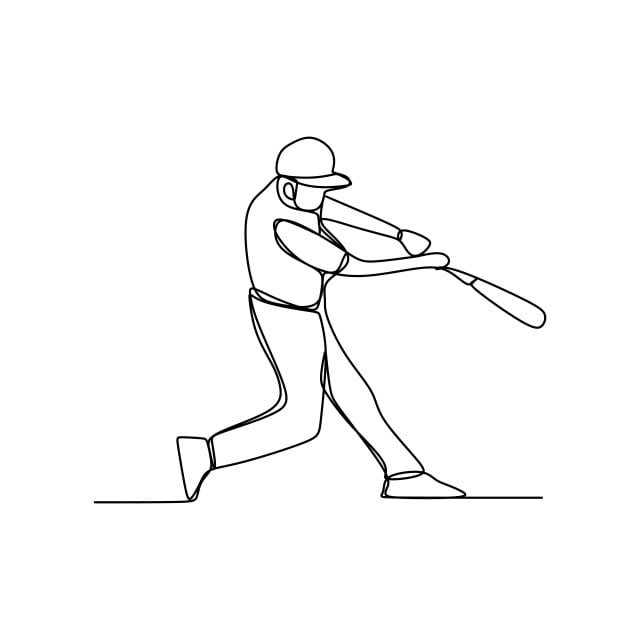 how to draw a baseball player hitting the ball how to draw a baseball player drawingforallnet how ball baseball hitting the a player draw to