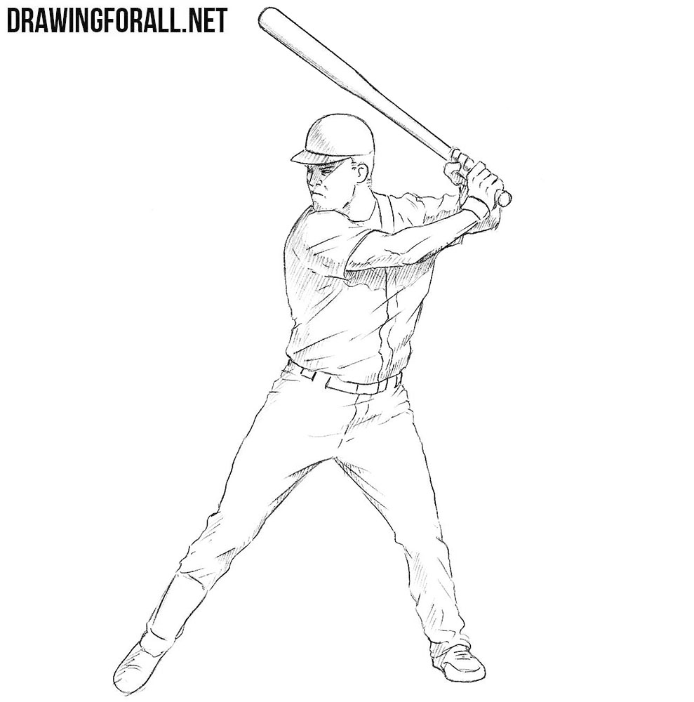 how to draw a baseball player hitting the ball one line drawing of baseball player ready to hit the ball how draw to hitting ball a baseball the player