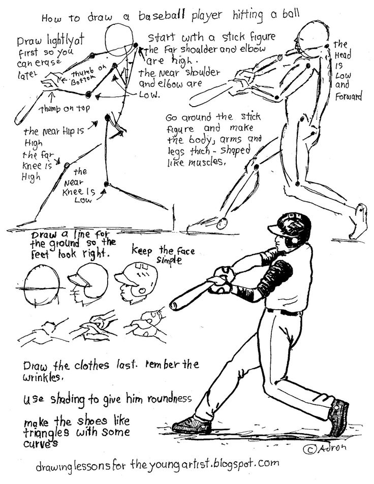 how to draw a baseball player hitting the ball sketchy baseball drawing set by rasterbird on hitting a ball to the draw baseball player how