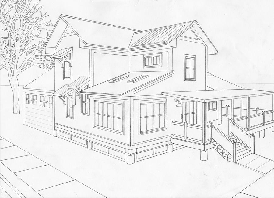 how to draw a big house 2 point perspective house by moriarty1776 on deviantart draw a big house to how