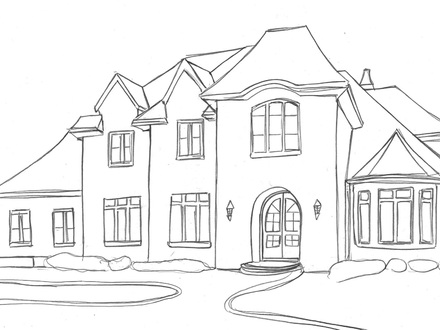 how to draw a big house big house drawing at getdrawings free download house how to draw a big
