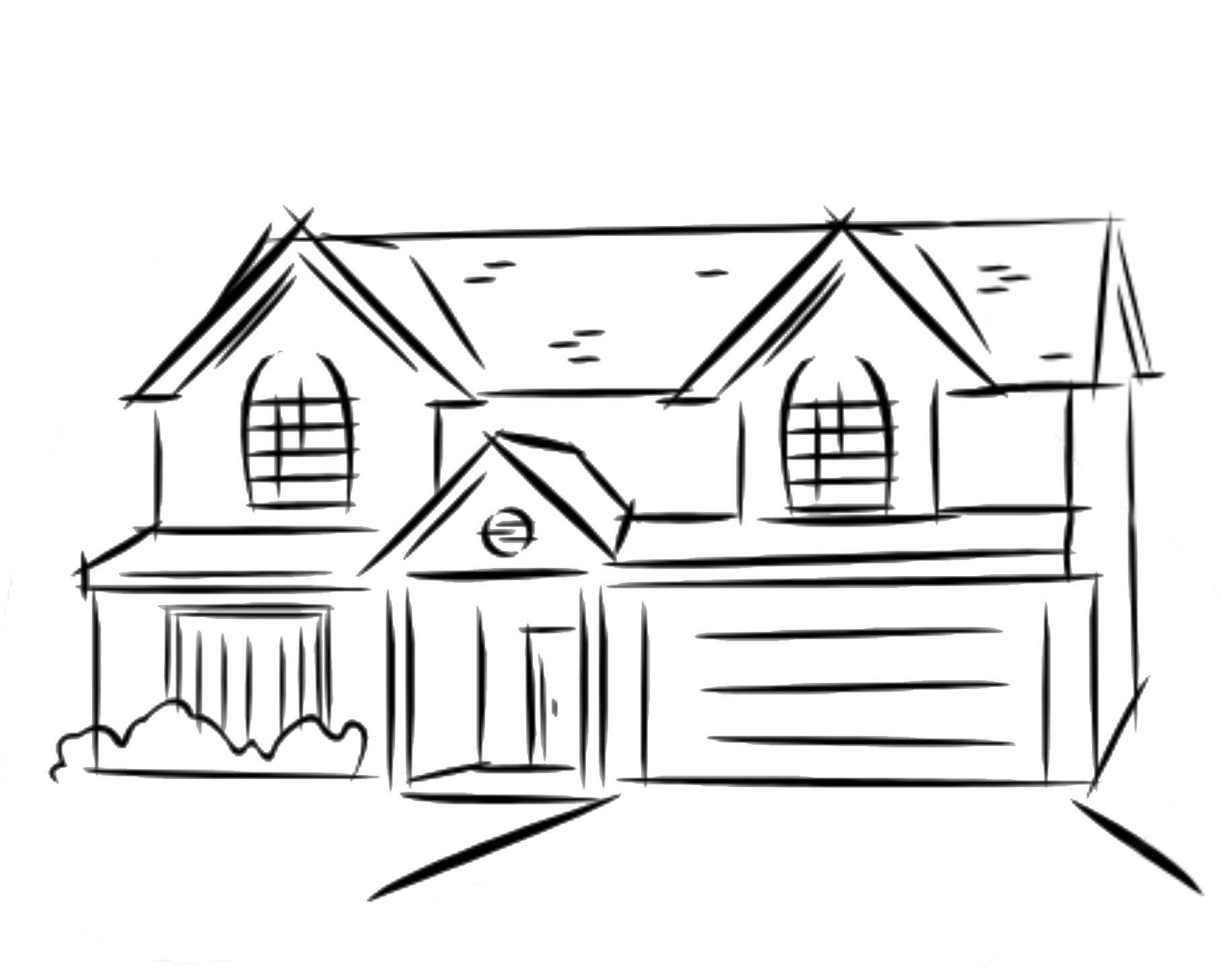 how to draw a big house house line drawings clipart best clipartsco to how a draw big house
