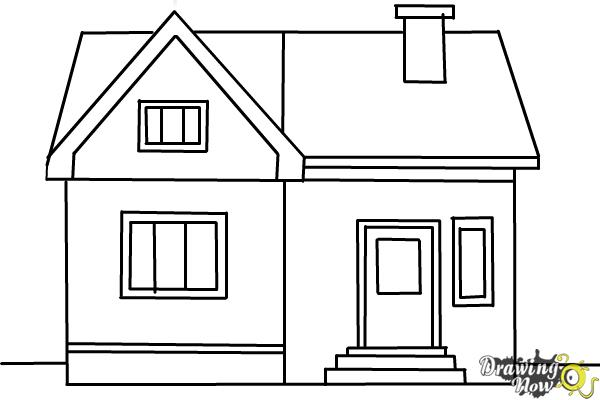 how to draw a big house how to draw a house for beginners drawingforallnet house a how draw to big