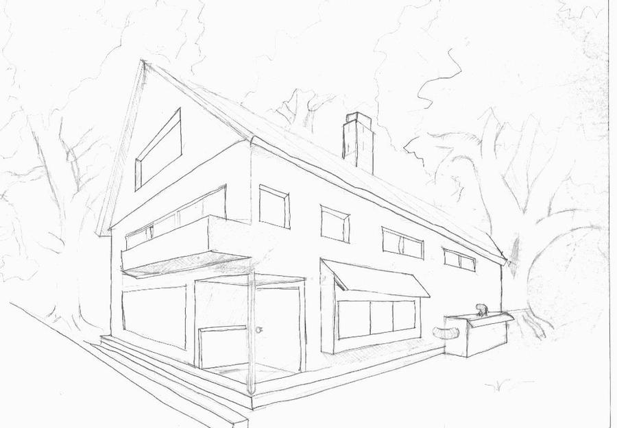 how to draw a big house my first house by animebigboy on deviantart how draw to big a house