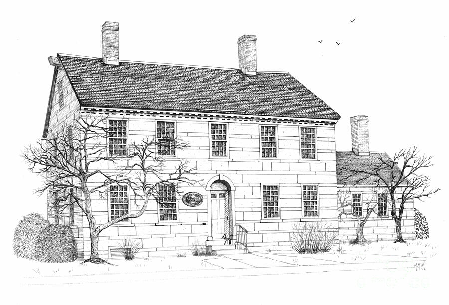how to draw a big house the jillson house drawing by michelle welles draw house a big to how