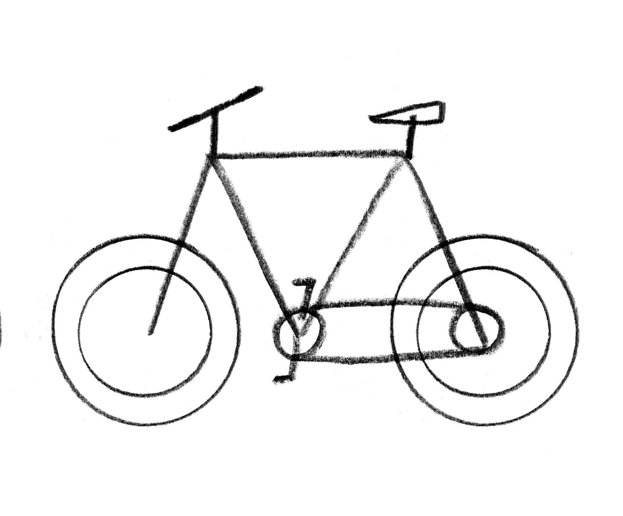 how to draw a bike step by step easy bicycle drawing at getdrawings free download how step step bike a to draw by