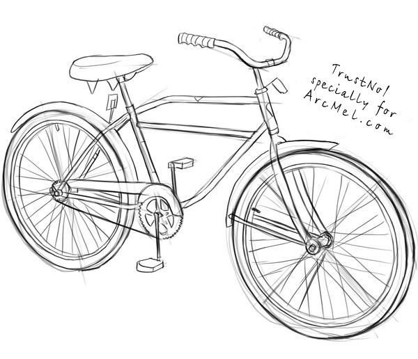 how to draw a bike step by step how to draw a bicycle random things to pinterest to draw how by bike step step a