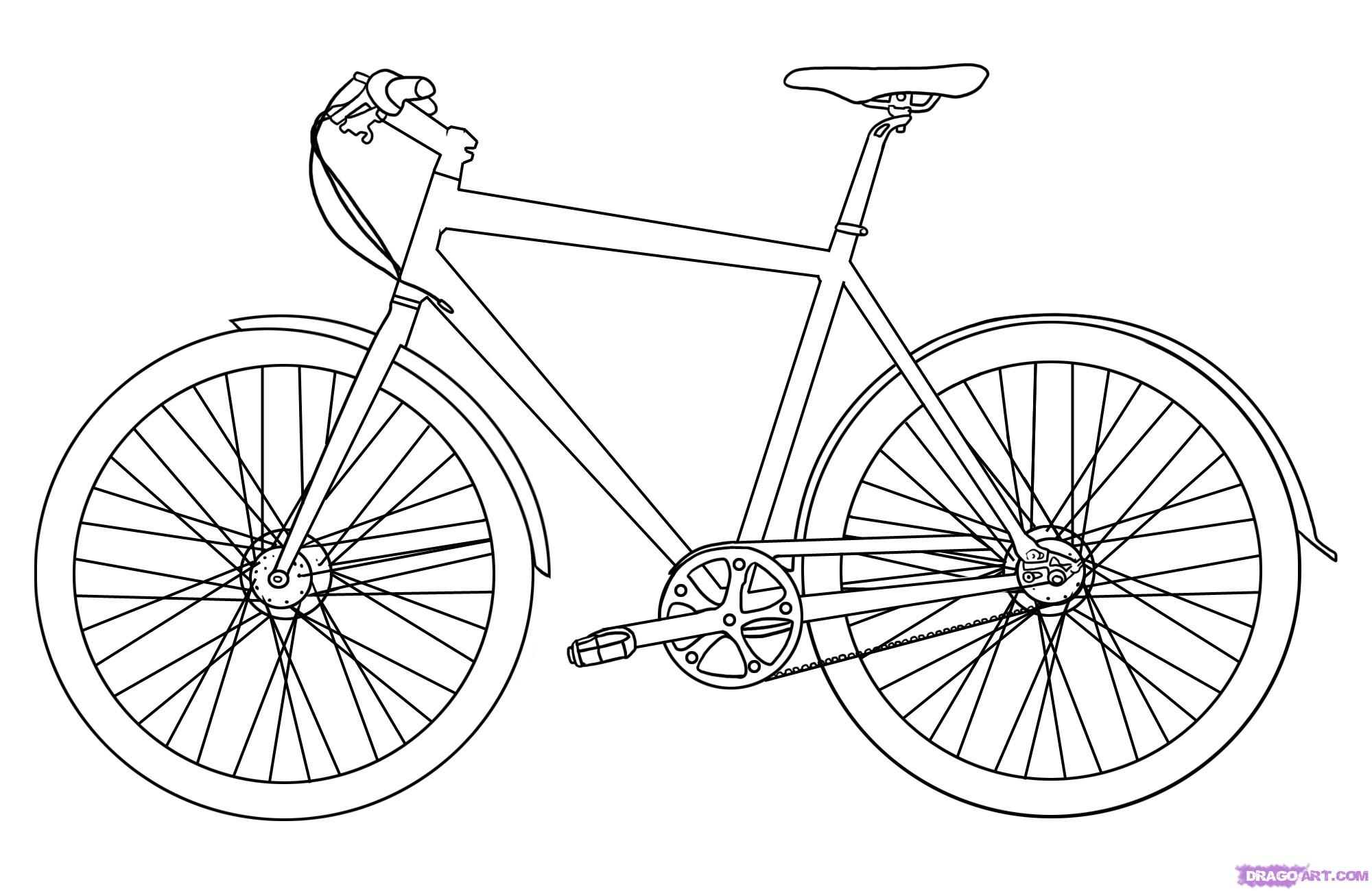 how to draw a bike step by step how to draw a bike step by step step draw to a bike step how by