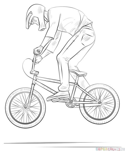 how to draw a bike step by step how to draw a bmx biker step by step drawing tutorials step bike how by draw to a step