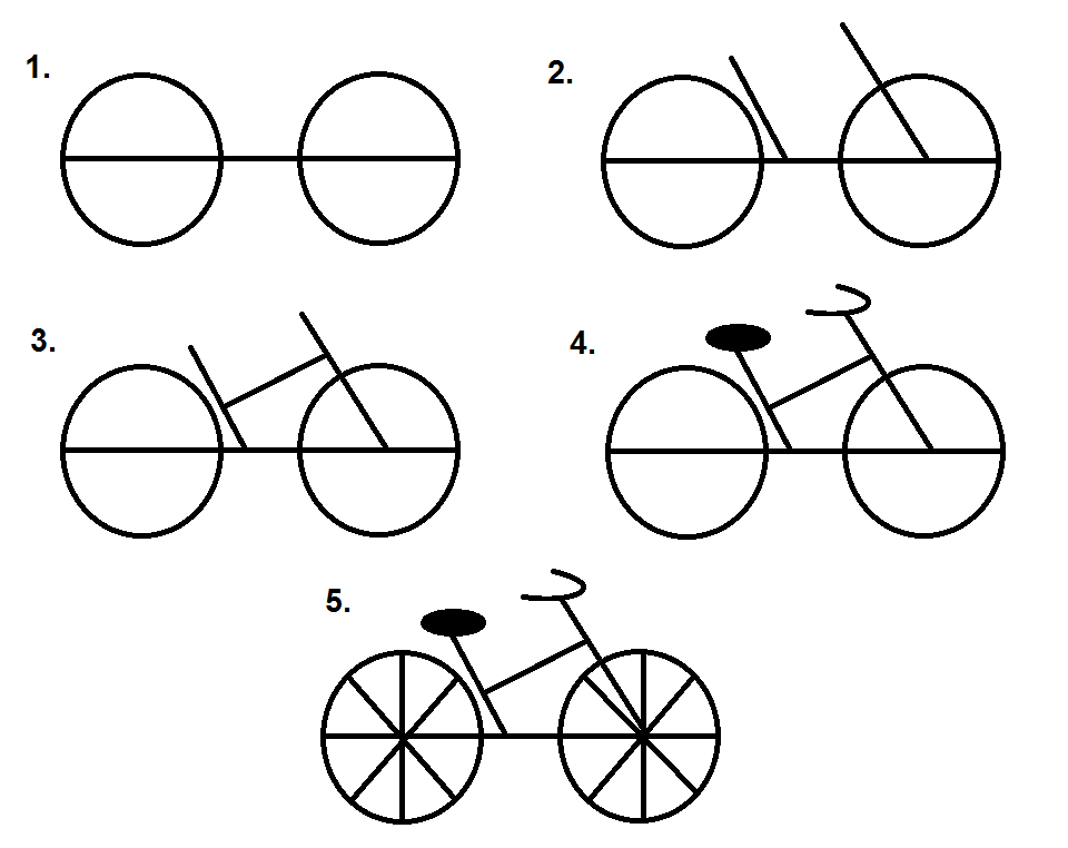 how to draw a bike step by step this easy tutorial will help you learn to draw a cartoon step step by bike how a draw to