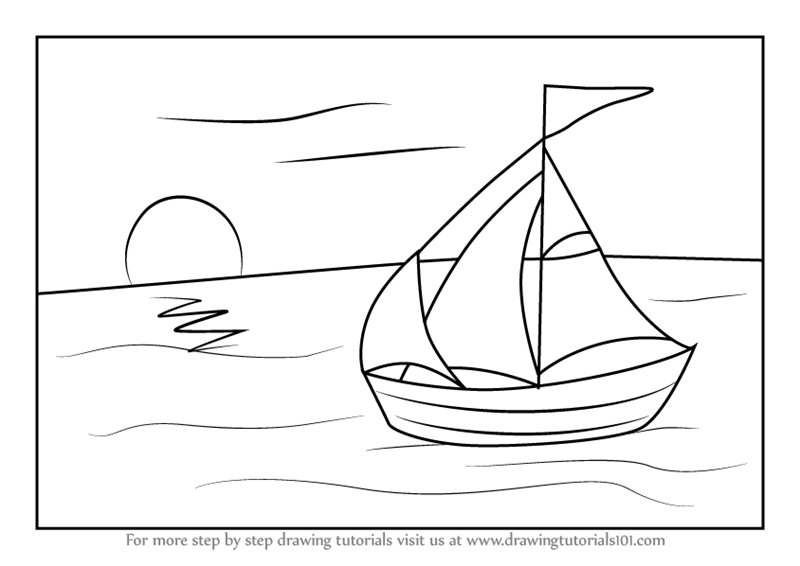 how to draw a boat step by step how to draw a boat step by step boat drawing for kids boat by a to how step step draw