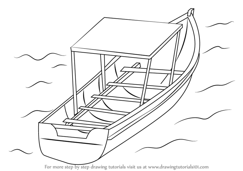 how to draw a boat step by step how to draw a boat step by step drawing tutorials step by boat how draw step to a