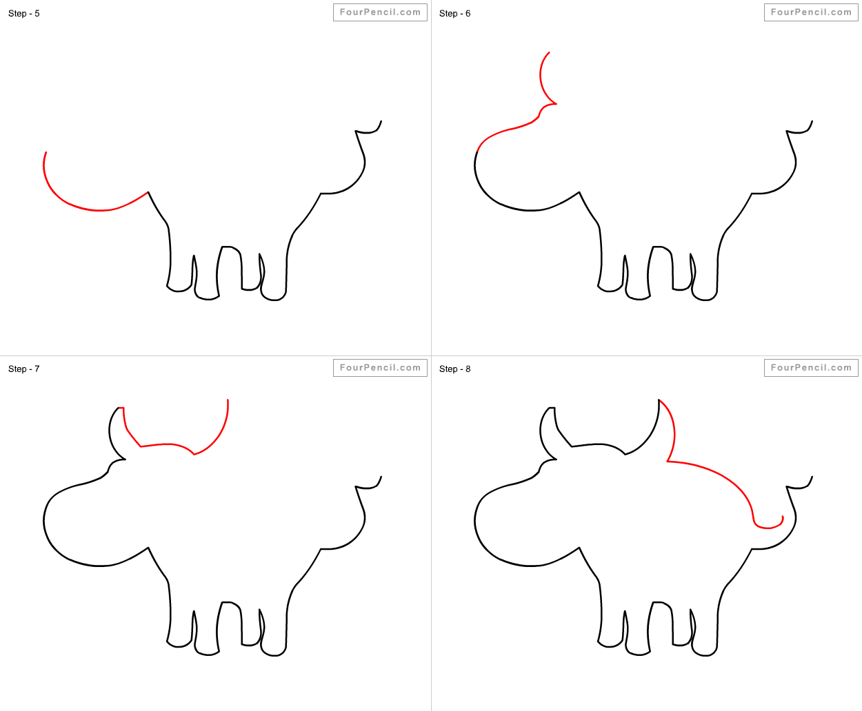 how to draw a buffalo fpencil how to draw buffalo for kids step by step how draw buffalo to a