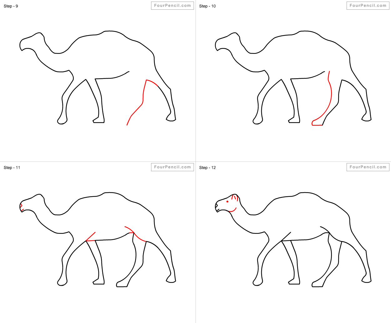 how to draw a camel fpencil how to draw camel for kids step by step how camel draw to a