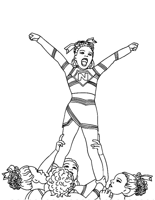 how to draw a cheerleader cheerleader coloring pages drawcolor a draw cheerleader how to
