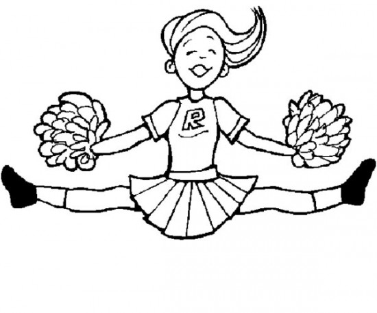 how to draw a cheerleader cheerleader drawing at getdrawings free download a cheerleader to how draw