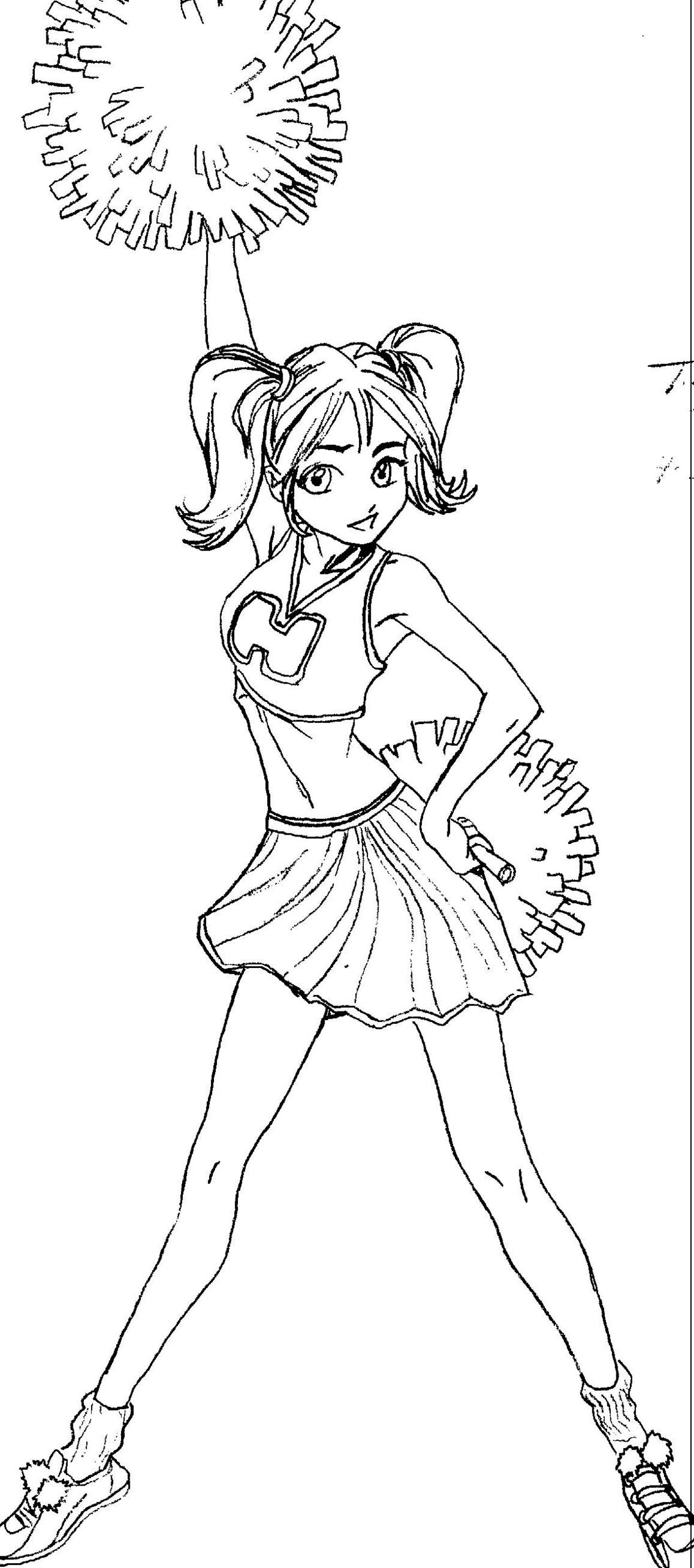 how to draw a cheerleader cheerleader drawing free download on clipartmag to cheerleader how draw a
