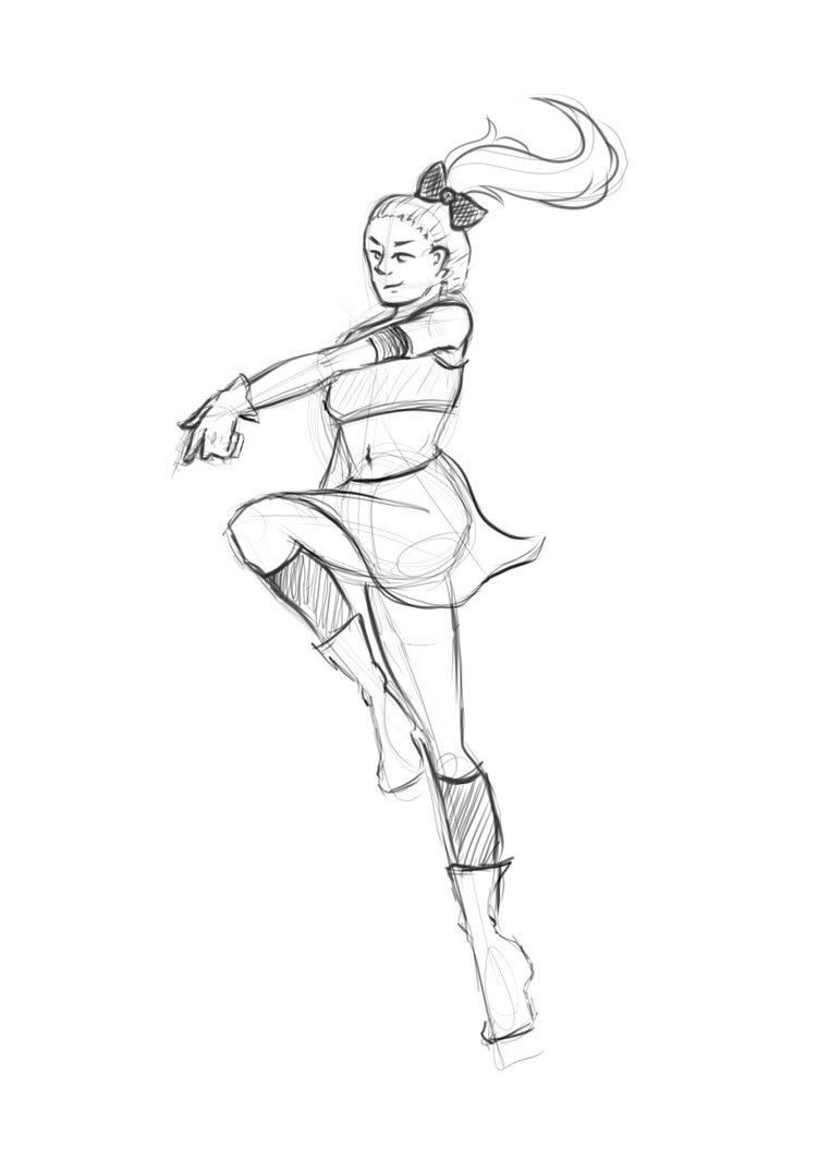 how to draw a cheerleader cheerleader lucy by camoche on deviantart how cheerleader draw to a
