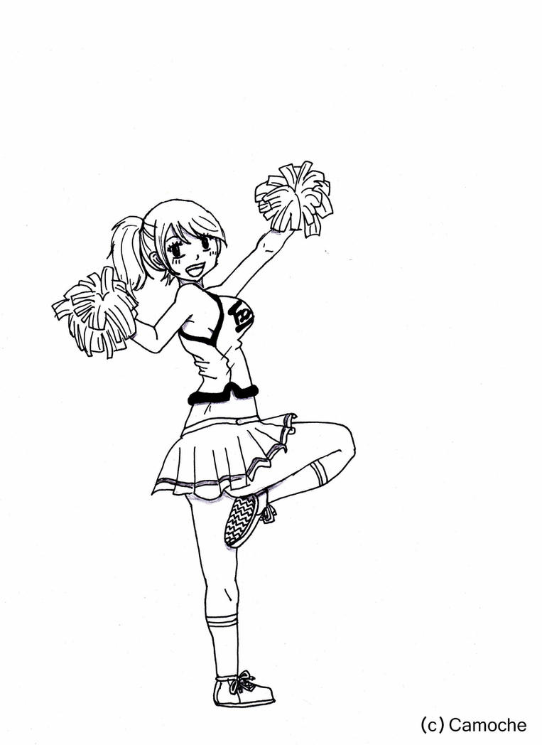 how to draw a cheerleader cheerleader stick figures digital stamps cheerleader line cheerleader how a to draw