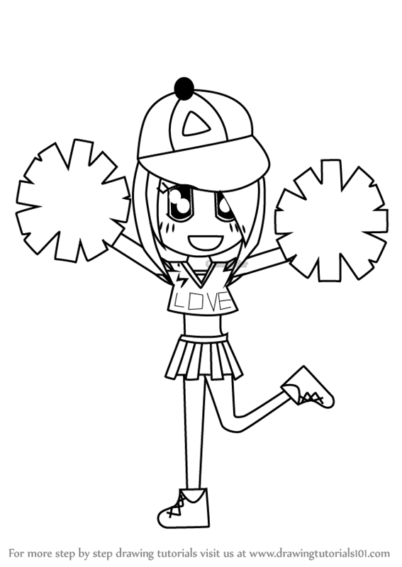 how to draw a cheerleader cheerleaders coloring pages for childrens printable for free to draw how cheerleader a