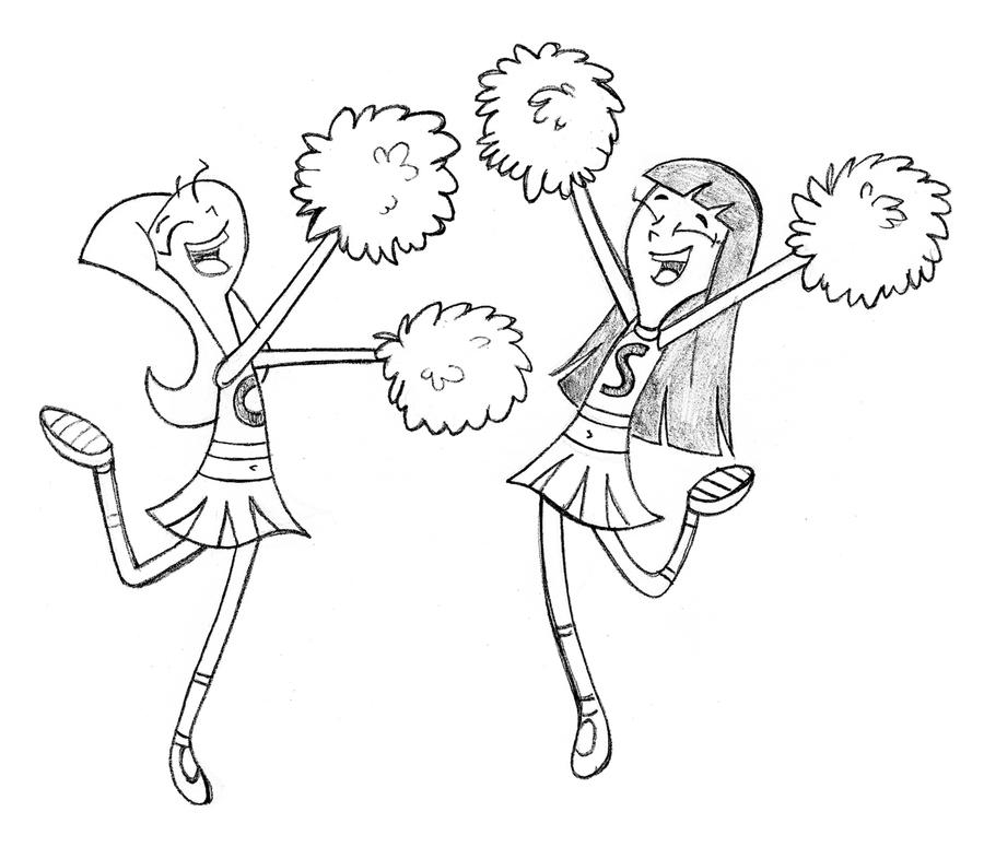 how to draw a cheerleader cheerleaders drawing at getdrawings free download to how cheerleader draw a
