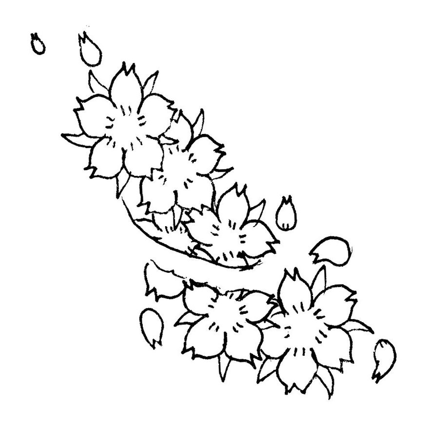 how to draw a cherry blossom tree cherry blossom tree drawing simple tree how to draw a cherry blossom