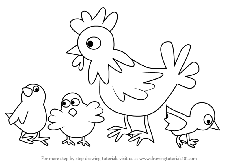 how to draw a chick chicken drawing for kids at getdrawings free download draw chick a how to