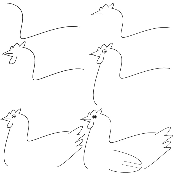 how to draw a chick scratch and peck how to draw a chicken a draw chick how to