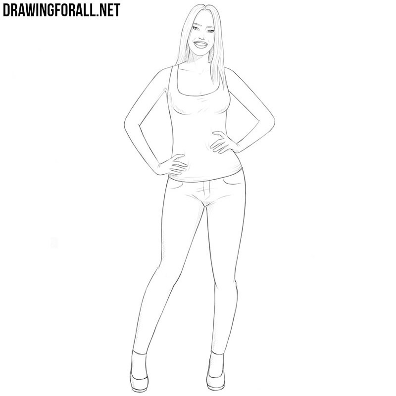 how to draw a chick simple drawing of girl at getdrawings free download how draw to a chick