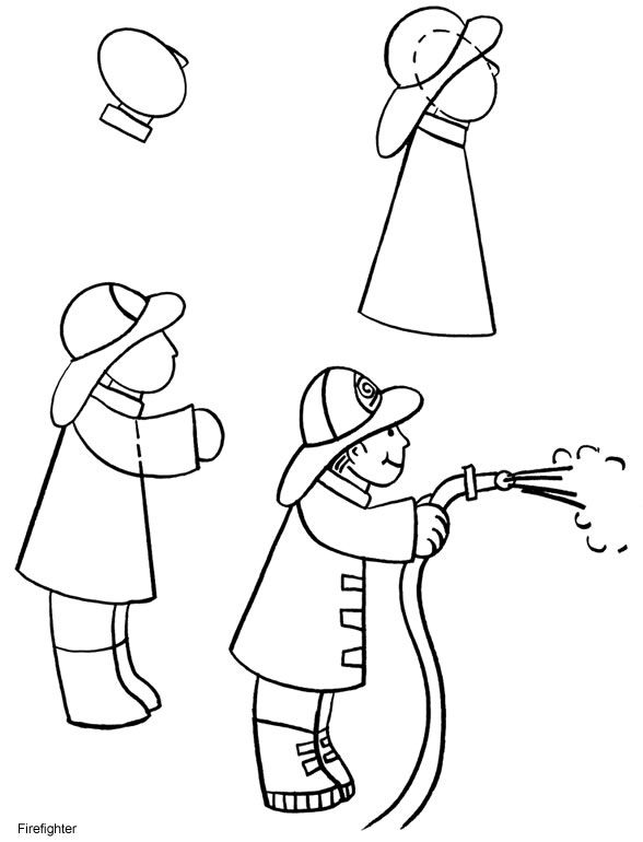 how to draw a fireman coloring fireman drawing for kids coloring pages to fireman a draw how