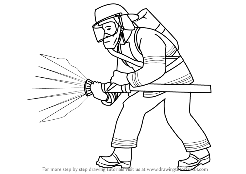 how to draw a fireman firefighter cartoon drawing at getdrawings free download a to fireman how draw