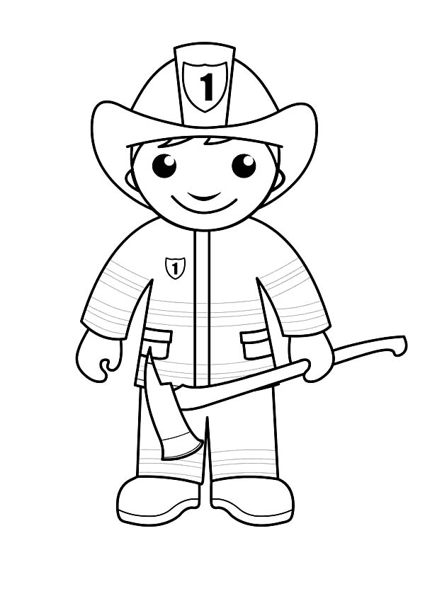 how to draw a fireman firefighter kids colouringdraw pages pinterest how a draw to fireman