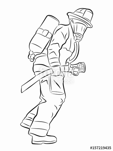 how to draw a fireman firefighter portrait coloring page free printable draw fireman to how a