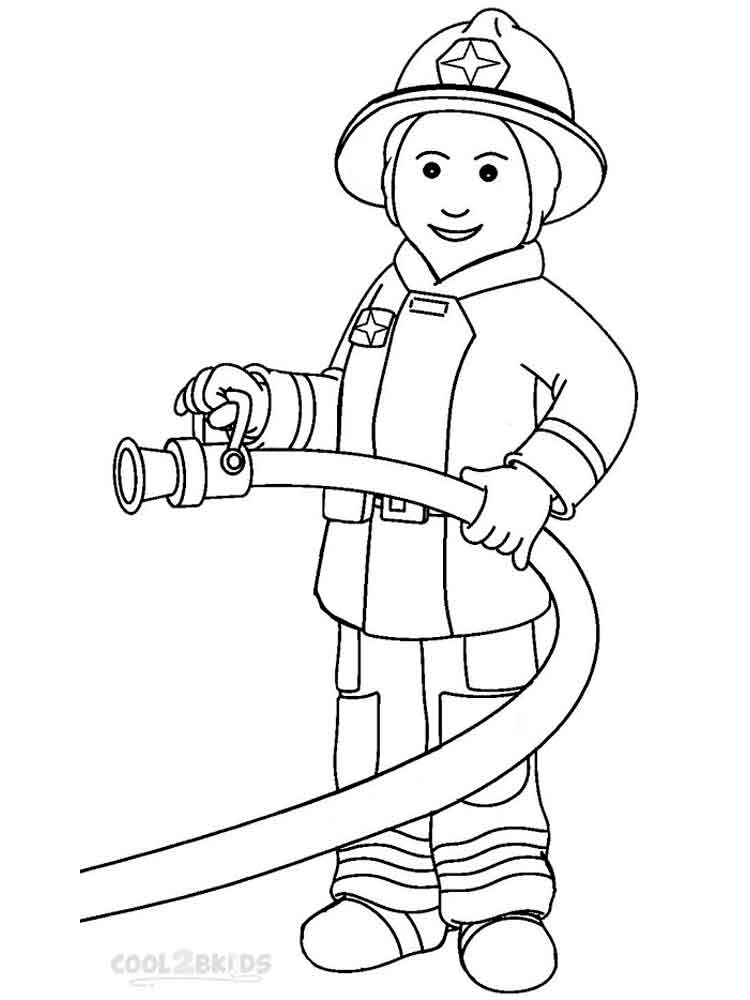 how to draw a fireman fireman is ready with an axe coloring page kids play color fireman a to how draw