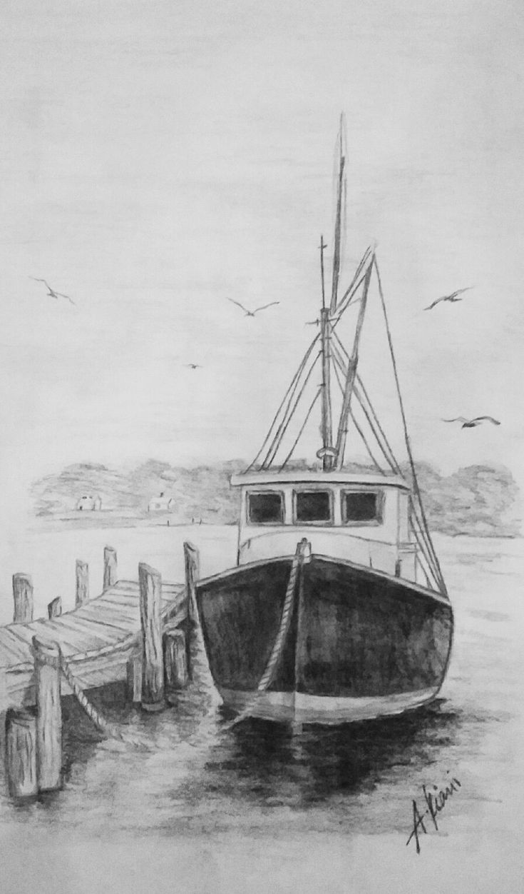 how to draw a fishing boat step by step 17 best images about drawing on pinterest draw how a step by to step fishing boat